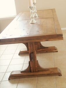 Pedestal Farmhouse Table Cambridge Kitchener Area image 2