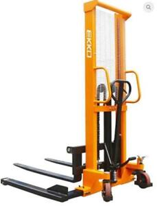 "EKKO D10 Manual Straddle Stacker 2200lbs. Cap., 63"" Height - End of Year Special!!"