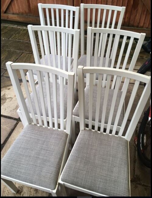 Excellent 6 Ikea Norrnas White Chairs Free Delivery 881 In Leicester Leicestershire Gumtree Pdpeps Interior Chair Design Pdpepsorg