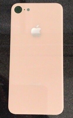 Repuesto Tapa de cristal trasera IPHONE 8 rosa nuevo envio gratis 24/48...