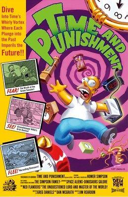 Simpsons Homer Punishment Time Travel Toaster Halloween Treehouse of Horror Art