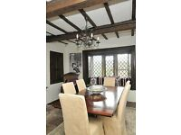 Solid Wood Dining Table & Six Chairs