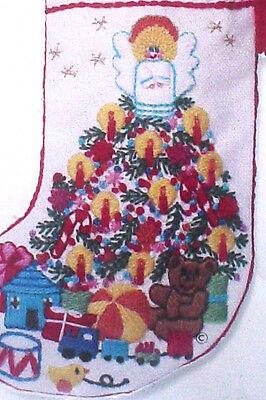 Christmas Sunset Crewel Embroidery Stitchery Stocking Kit,BABY'S FANTASY,7.5