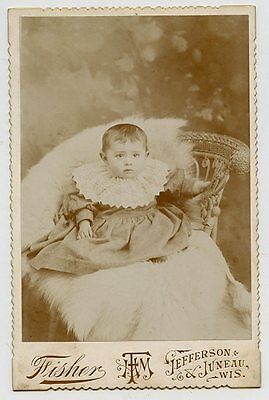 - Cabinet Photo - Jefferson, Wisconsin - Cute Baby Sitting - Dark Eyes 'Mabel'