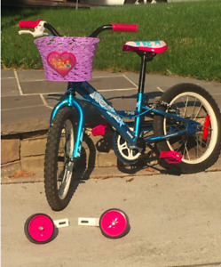 Girl's Louis Garneau bike 16 inch, basket and training wheels