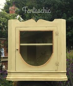 Vintage Corner Cabinet - shabby chic