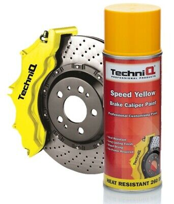 Brake Caliper & Drum Paint SPEED YELLOW GLOSS 260°C High Temp Spray 400ml
