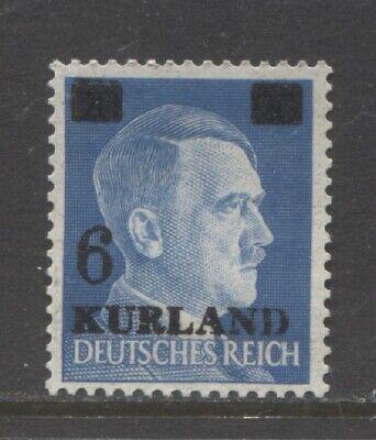 1945 LATVIA  WW 2 German occupation KURLAND 6 on 20 Pf Hitler  op mint** signed