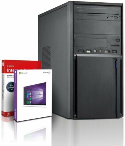 PC Quad Core Computer Gamer Allround A10 • 8GB • 500GB Rechner Komplett Win 10