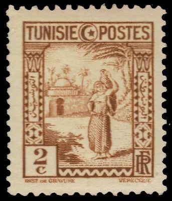 "TUNISIA 123 (Mi172) - Woman Carrying Water ""1931 Yellow Brown"" (pa38141)"