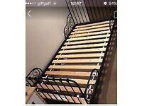 IKEA NEW single metal bed plus mattress