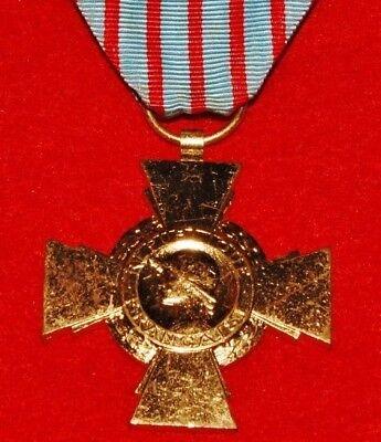 WWI WWII French Croix du Combattant Cross Adrian 1914-18 - 1939-45 (2637)