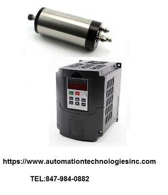 4bearing 110v1.5kw Water Cooled Motor Spindle And 1.5kw 110v Drive Inverter Vfd