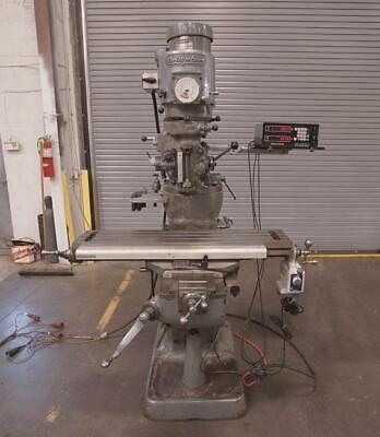 Bridgeport 1j Vertical Milling Machine With Acu-rite Ii 2 Axis Dro