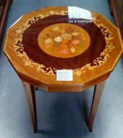 Floral Pattern Wooden Table
