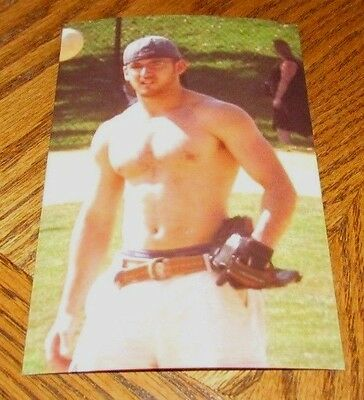 Shirtless Male Frat Boy Jock Hairy Chest Baseball Hunk Dude PHOTO 4X6 C469 - Hairy Boys