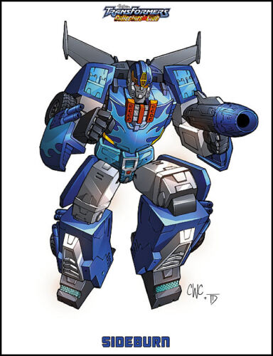 SIDE BURN PRINT; 2011 Transformers Club Exclusive Art Print by Casey Coller .