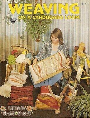 Weaving on a Cardboard Loom Brook Dickerhoff Vintage How To Pattern Book NEW