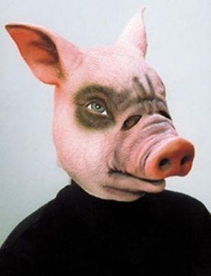 Orl - Maske Schwein Tiermaske Schweinemaske zum Kostüm Karneval Fasching ()