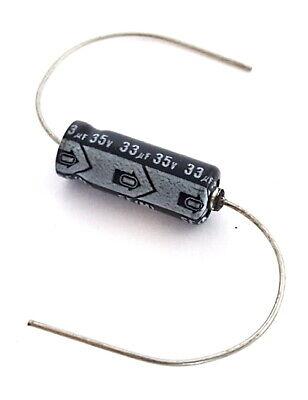 33uf 35v Vintage Axial Aluminum Electrolytic Capacitors Nichicon 100 Pieces