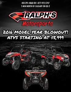 BLOWOUT PRICING ON 2016 ARCTIC CAT ATVS & UTVS!