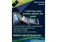I will buy your broken phone cracked screen