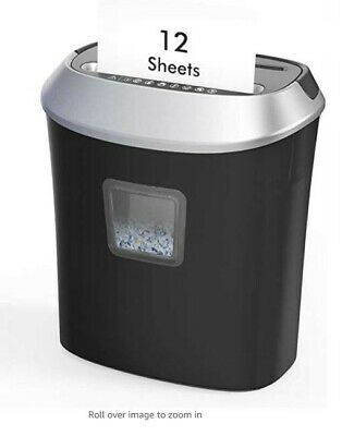 12 Sheet Cross-cut Papercredit Card Shredder