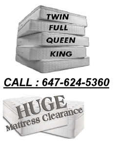 MATTRESS WAREHOUSE SALE (TWIN-$89, DOUBLE-$99, QUEEN -$119)