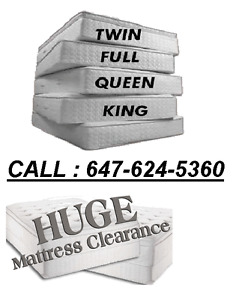 MATTRESS PROMOTION !! DELIVERY AVAILABLE CALL - 647-624-5360