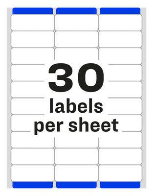 Avery 51605960 Address Labels 30 Labelssheet 300 Labels