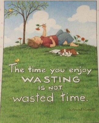 The Time You Enjoy- Handmade Fridge Magnet- Mary Engelbreit Artwork
