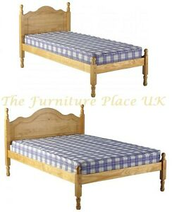 Sol 3ft single 4ft or 4ft6 double antique pine low for Divan beds double 4ft 6 sale