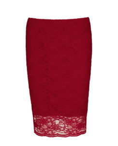 NEW MADE IN CANADA Women's Red Cherry Skirt Size S