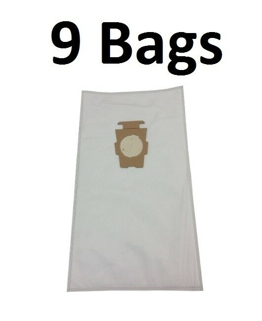 9 Universal HEPA Cloth Bags for Kirby Vacuum F Style Avalir Sentria