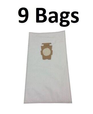 (9) F Style Microfiltration Cloth Hepa Vacuum Bags for Kirby Sentria I & II G10D