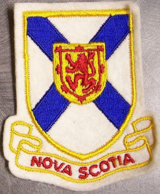 Embroidered International Patch Provincial flag Nova Scotia Canada NEW