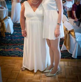 Designer Wedding Dress, Me Too by Matthew Eager (Size 16-18)