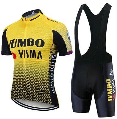 2021 equipo JUMBO VISMA conjunto de Ropa de Ciclismo hombres bicicleta Maillot