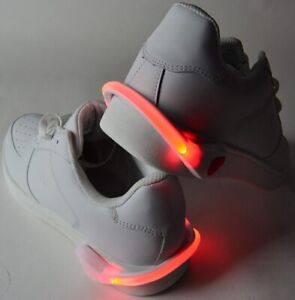 Reflective LED shoe safety clips