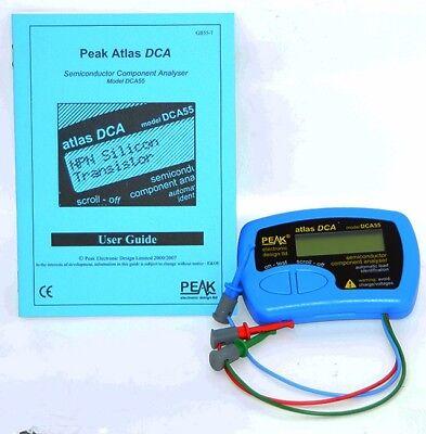 Peak Atlas Dca55t Semiconductor Component Analyser Model Dca55
