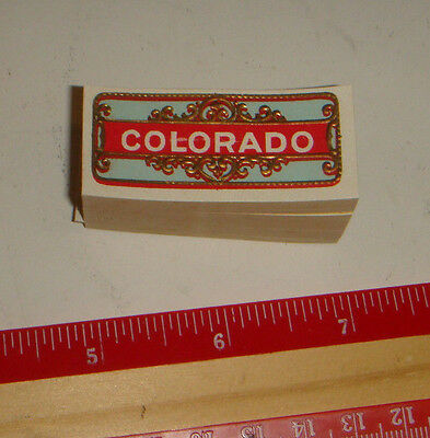 100 Unused Colorado Cigar Bands? Side Labels? VERY NICE!!! Older bands about 100