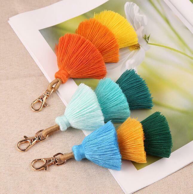 120 pcs Chinese Knot Assorted Colors DIY Tassels Pendant with Loop for Keychain