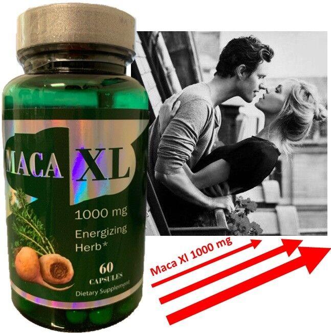 Maca Root Extract XL 1000 mg 60Caps Sexual Male Enhancement Libido Stamina
