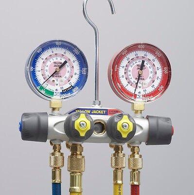 Yellow Jacket 49967 Titan 4-valve Manifold 60 Plus Ii Hoses - R-22404a410a