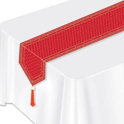 Western Red Bandana Laminated Paper Table Runner Western Party Decoration  ](Red Bandana Decorations)