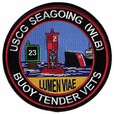Seagoing WLB Buoytender Vets Veterans W5475 USCG Coast Guard patch