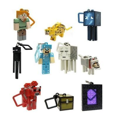 10Pcs Minecraft Series 2 Hangers Collectable Toy Keychain Action Figures Keyring