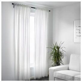 Ikea Vivan White Translucent Curtains x 1 pair
