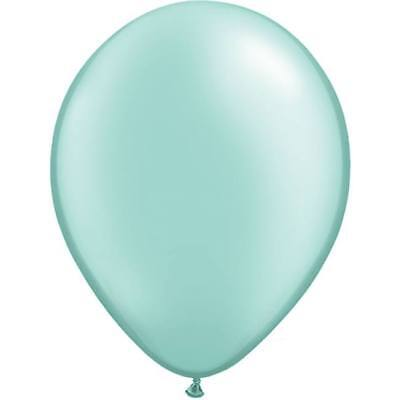 Qualatex Balloons 11-inch Pastel Pearl Mint Green (25 pack) (Pastel Balloons)