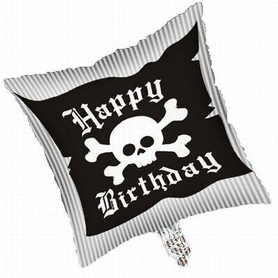 Happy Birthday Skulls (Pirate Party Happy Birthday 18 Inch Foil Balloon Skull Birthday)